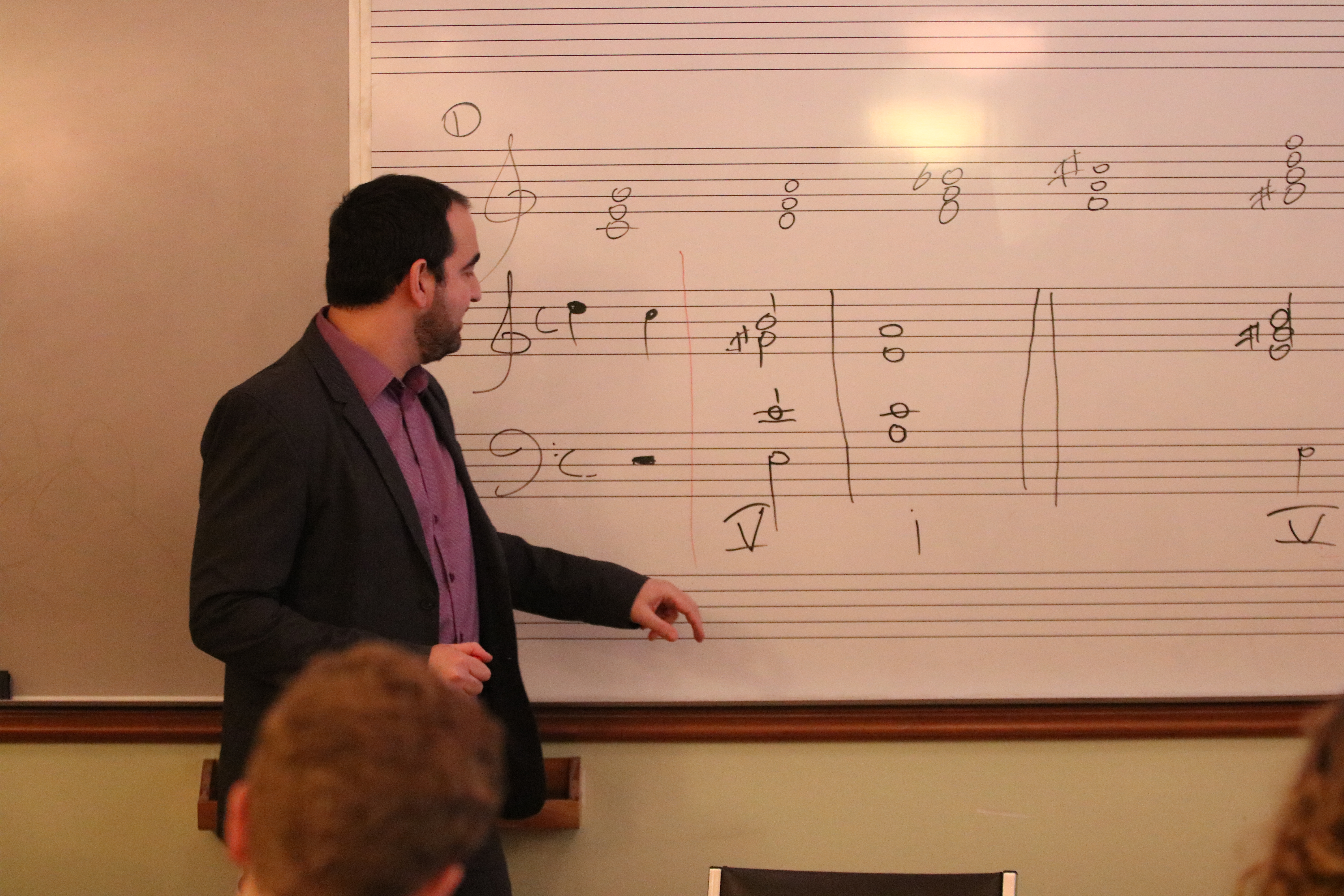 Dr. Michalis Andronikou inspiring young musicians by example Image